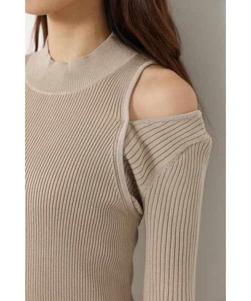rienda(リエンダ)/Shoulder SLIT Mermaid Knit OP/110DS673-0130_img12