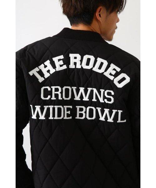 RODEO CROWNS WIDE BOWL(ロデオクラウンズワイドボウル)/キルティングロゴブルゾン/421DSW30-0670_img05