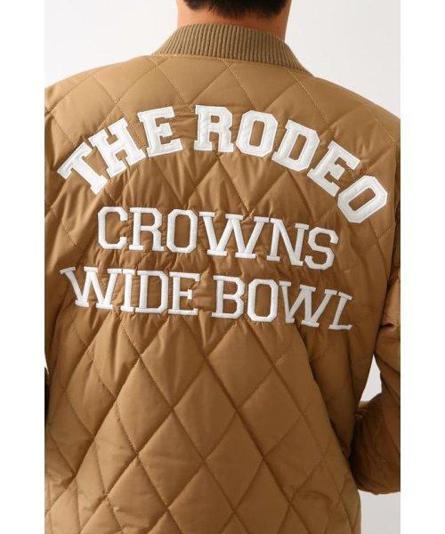 RODEO CROWNS WIDE BOWL(ロデオクラウンズワイドボウル)/キルティングロゴブルゾン/421DSW30-0670_img12