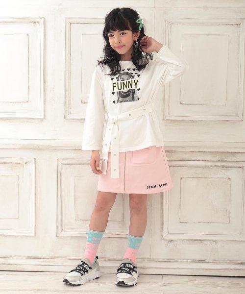 JENNI love(ジェニィラブ)/ベルト付きロング丈Tシャツ/02201216_img01