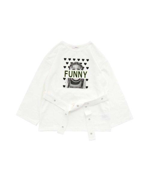 JENNI love(ジェニィラブ)/ベルト付きロング丈Tシャツ/02201216_img06