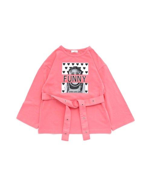 JENNI love(ジェニィラブ)/ベルト付きロング丈Tシャツ/02201216_img10