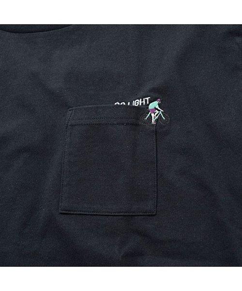 CavariA(キャバリア)/CavariA【キャバリア】USAコットン刺繍入り袖プリント クルーネック 長袖 Tシャツ/CASB20-05_img11