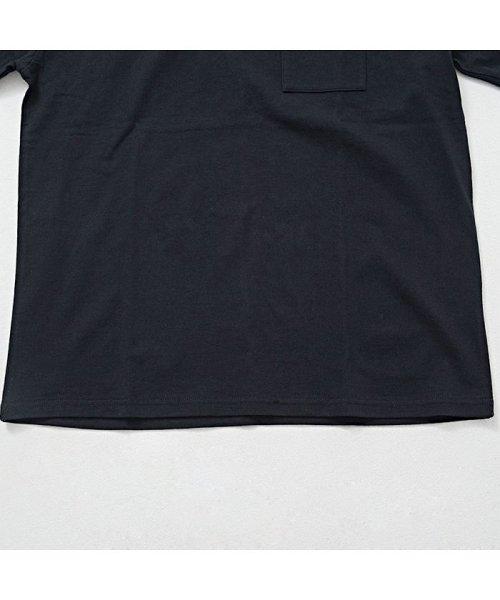 CavariA(キャバリア)/CavariA【キャバリア】USAコットン刺繍入り袖プリント クルーネック 長袖 Tシャツ/CASB20-05_img14