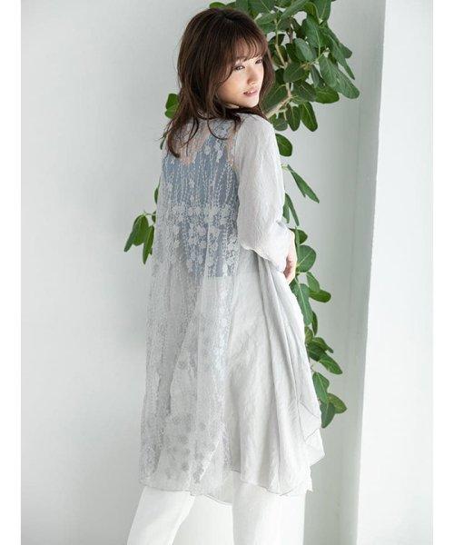 fifth(フィフス)/シースルー刺繍ロングガウン/ES19S0264_img11