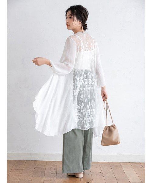 fifth(フィフス)/シースルー刺繍ロングガウン/ES19S0264_img12