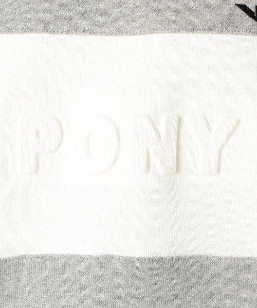 GLOSTER(GLOSTER)/【PONY/ポニー】 ロゴ スウェット ビッグシルエット USAコットン/9-0669-7-53-001_img07