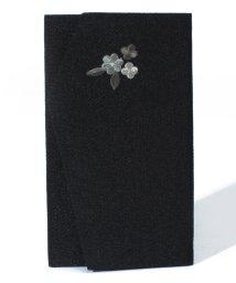 BLACK GALLERY/【ブラックフォーマル・喪服・礼服・葬式・セレモニー・結婚式】刺繍が上品な日本製ちりめん金封袱紗/000817217