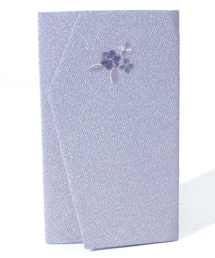 ブラックギャラリー 刺繍が上品な日本製ちりめん金封袱紗 レディース ライトパープル F 【BLACK GALLERY】