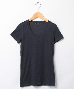 <マガシーク>【Theory(セオリー)】UネックTシャツ STAY/JUIN2画像