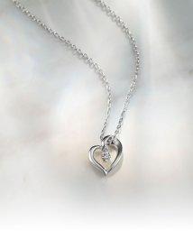 4℃/4℃エターナルシルバー ダイヤモンド ハートネックレス/001259828