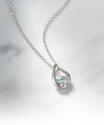 4℃/4℃エターナルシルバー ダイヤモンド アクアマリンしずくネックレス/001259832
