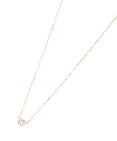 【COCOSHNIK(ココシュニック)】K18 ダイヤモンドシークレット留 ネックレス
