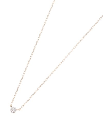 【COCOSHNIK(ココシュニック)】ダイヤモンドシークレット留 ネックレス小