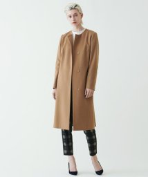 TOMORROWLAND collection/ピュアカシミヤ ベルト付きノーカラーコート/001710486