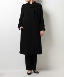 BLACK GALLERY/【ブラックフォーマルコート・喪服・礼服・葬式・卒業式】取り外し可能なキルトライナー付き アシメショール衿のコート/001734365