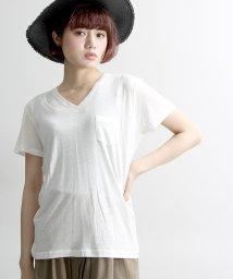 WEGO/WEGO/リネンモダールVネックTシャツ/001757772