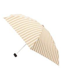 grove/リボンチャームストライプ晴雨兼用折りたたみ傘/001862452