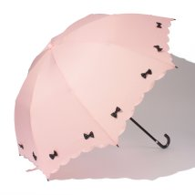 pink trick/雨晴兼用 折傘 (UVカット&軽量) カラフルリボン/001862502