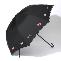 pink trick/雨晴兼用 折傘 (UVカット&軽量) カラフルリボン/001862503