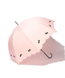 pink trick/雨晴兼用 長傘 (UVカット&軽量) カラフルリボン/001862538