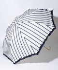pink trick/雨晴兼用 折傘 (UVカット&軽量) ストライプ/001862539