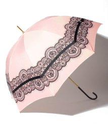 pink trick/雨晴兼用 長傘 (UVカット&軽量) レース&リボン/001862540