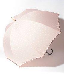 pink trick/雨晴兼用 長傘 (UVカット&軽量) インドット/001862542