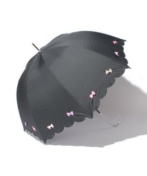 pink trick/雨晴兼用 長傘 (UVカット&軽量) カラフルリボン/001862552