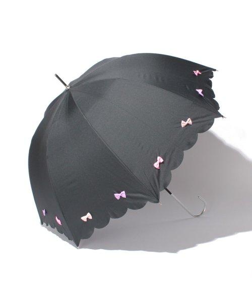 pink trick(ピンクトリック)/雨晴兼用 長傘 (UVカット&軽量) カラフルリボン/39636