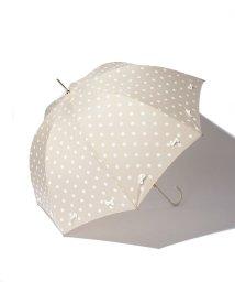 pink trick/雨晴兼用 長傘 (UVカット&軽量) フレーミングリボン ドット /001862564