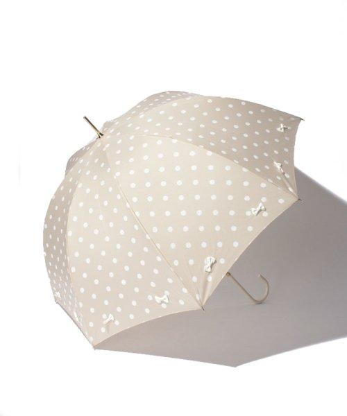 pink trick(ピンクトリック)/雨晴兼用 長傘 (UVカット&軽量) フレーミングリボン ドット /35056