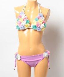 VacaSta Swimwear/【BENETTON】シフォンフラワー三角ビキニ/001920104