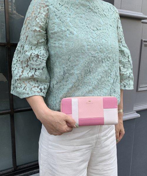 PI(ピーアイ)/【Pi ピーアイ】合皮ブロック配色ラウンドファスナー長財布/1555441