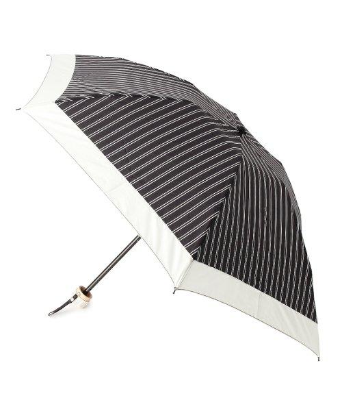 grove(グローブ)/ダブルストライプ折りたたみ傘(晴雨兼用)/99990976941080