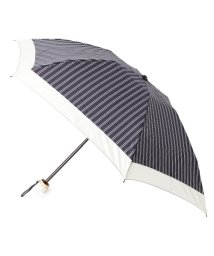 grove/ダブルストライプ折りたたみ傘(晴雨兼用)/001949094