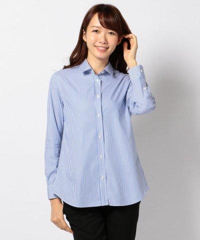 【JIYU-KU(自由区)】【Timeless★】TIMELESS 2WAYストライプシャツ