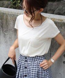 and Me.../ゆるてろ素材×ミニポケット!!美ラインシンプルTシャツ/カットソー/トップス/002008123
