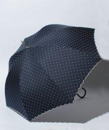pink trick/雨晴兼用 長傘 (UVカット&軽量) ジャンプ傘 ピンドット /002015913