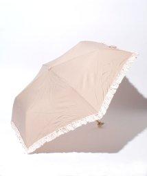 pink trick/雨晴兼用 3段折傘 (UVカット&軽量) ボーダーフリル/002015924