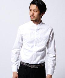 MONSIEUR NICOLE/ボタニカル柄バンドカラーシャツ/002036316