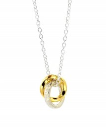 LION HEART/LH BASIC PLUMERIA‐04N072SVE99‐ Silver&Yellow Gold Double Ring/ネックレス/002027654