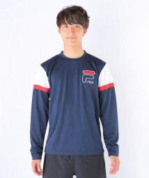 FILA/メッシュ肩切替ロングTシャツ/002015555