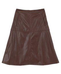 titivate/フェイクレザー台形スカート/002121575