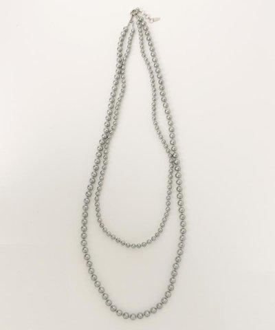 【JIYU-KU(自由区)】コットンパール2連 ネックレス