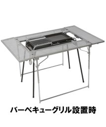 Alpine DESIGN/アルパインデザイン/2WAYフォールディングバーベキューテーブル 80X120/500017519