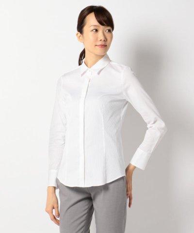 【NIJYUSANKU(23区)】ドビーストライプシャーティング シャツ