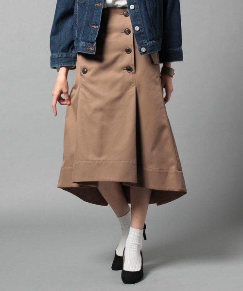 beautiful people(ビューティフルピープル)/ultimate pima twill trench tuck skirt/1725107001