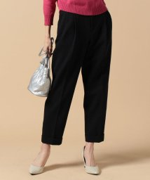 beautiful people/cotton double face tucked cropped pants/500055915