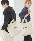 coen/【WEB限定カラー:シルバー】coen2WAYロゴトートバッグ/500077526